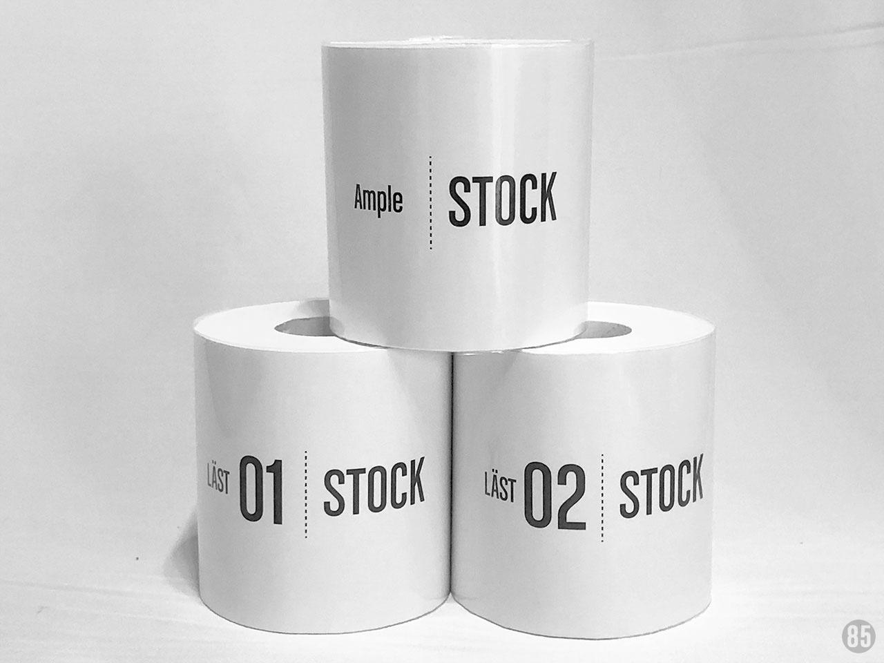 トイレットペーパーカバー 白 stockシリーズ