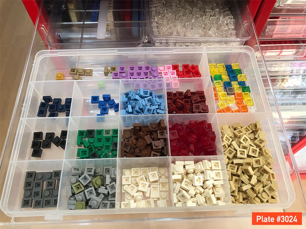 LEGOプレートパーツ1x1
