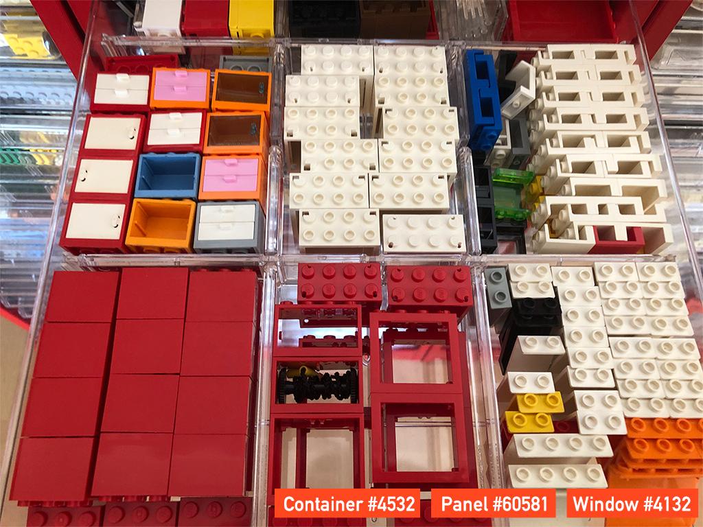 LEGO コンテナ・引き出し・窓枠